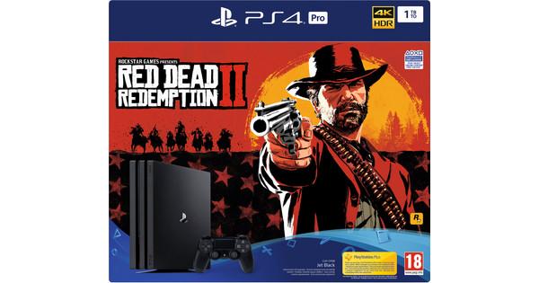 Sony PlayStation 4 Pro 1 TB Red Dead Redemption 2 Bundel