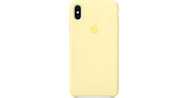 the latest 8927d 8bc7c Apple iPhone XS Max Silicone Back Cover Mellow Yellow