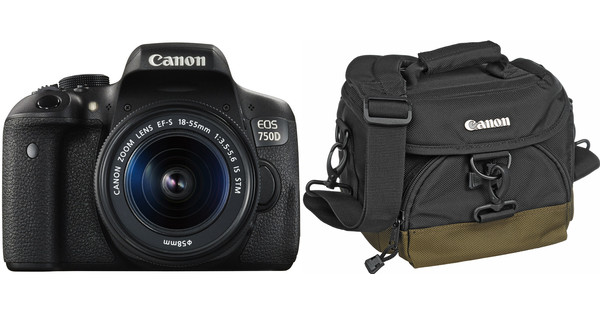 Canon EOS 750D + 18-55mm IS STM + Bag + 16GB memory card + Cloth