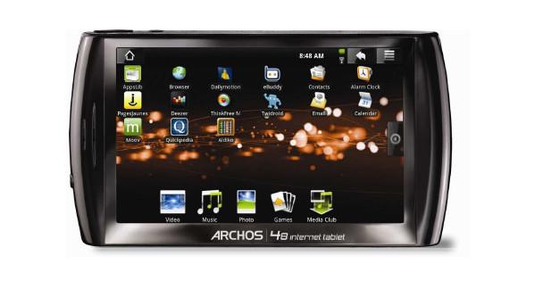 Archos 48 500 GB + Case + Thuislader