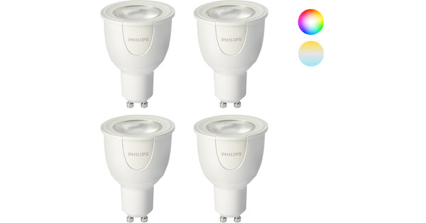 Philips Hue Gu10.Philips Hue White And Color Gu10 4 Pack