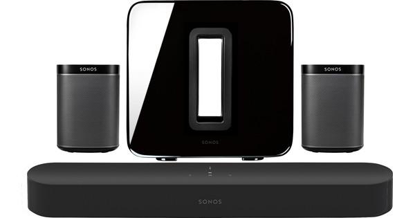 Sonos Beam 5.1 + Play:1 (x2) + Sub Zwart