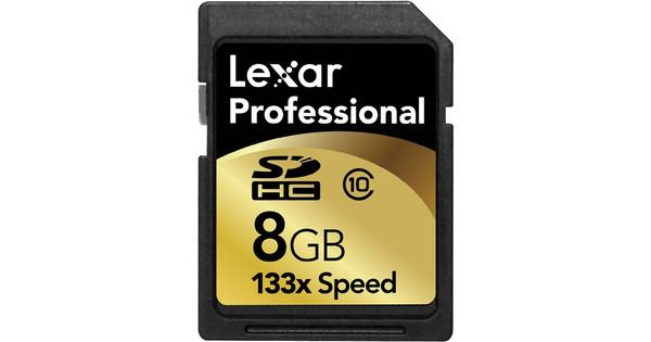 Lexar SDHC 8GB Pro 133x Class 10 + Geheugenkaartlezer