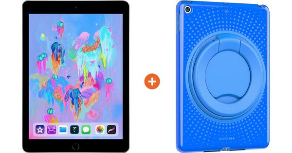 Apple iPad (2018) 32GB WiFi Space Gray + Kids Cover Blue