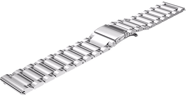 Just in Case Samsung Gear S3 Stainless Steel Watchband Silver