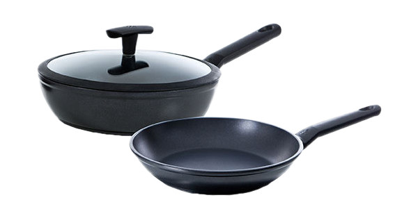 BK Easy Induction Frying Pan and High-sided Skillet 28cm