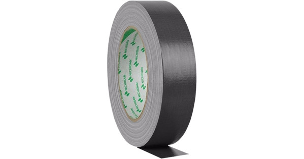 Nichiban Gaffa Tape Zwart 25 m lang, 50 mm Breed