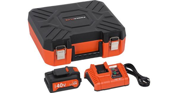 Powerplus Dual Power Acculader + Accu 40V 2,0 Ah Li-Ion