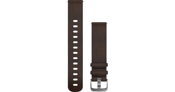 Garmin Vivomove HR Leather Watch Strap L Dark Brown