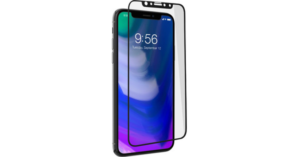 InvisibleShield Contour Apple iPhone X/Xs Screen Protector Glass Black