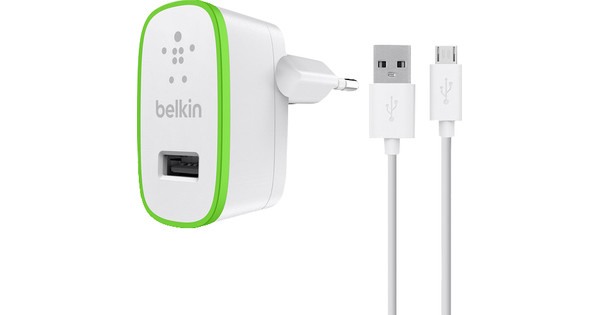 Belkin Charger Adapter Micro USB 2.4A 1.2M White