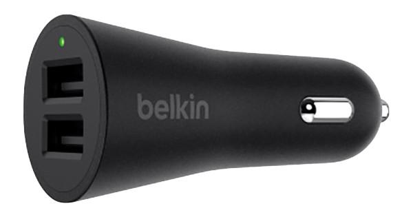 Belkin Chargeur de voiture Dual USB 24W Noir
