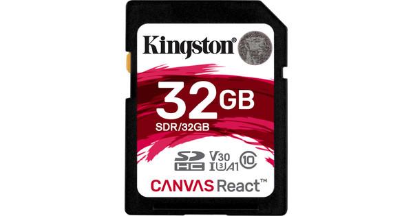 Kingston SDHC Canvas React 32 Go 100 MB/s