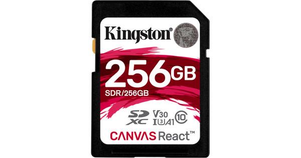 Kingston SDXC Canvas React 256 Go 100 MB/s