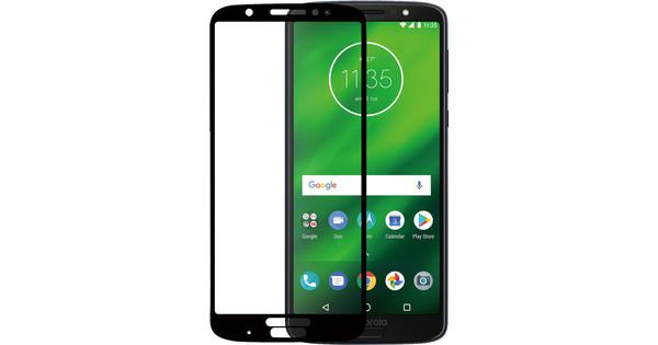 Azuri Verre trempé Motorola Moto G6 Plus Protège-écran Verre Noir
