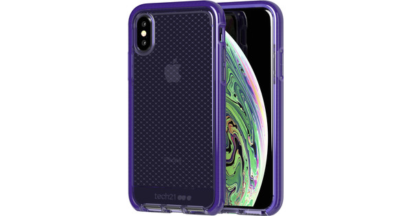 Tech21 Evo Check Apple iPhone X/Xs Back Cover Paars