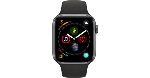 Apple Watch Series 4 44mm Space Gray Aluminium/Zwarte Sportband