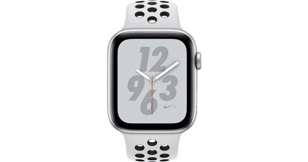 Apple Watch Series 4 44mm Nike+ Zilver Aluminium/Sportband