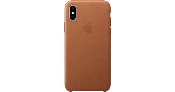 Apple iPhone Xs Leather Back Cover Saddle Brown