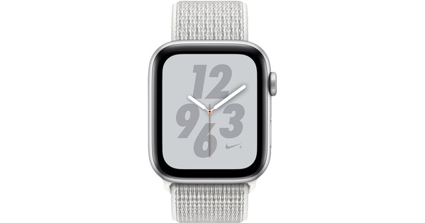 Apple Watch Series 4 44mm Nike+ Zilver Aluminium/Nylon Sportband