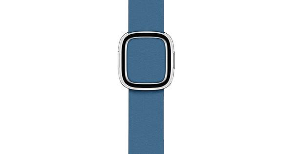 Apple Watch 38/40mm Modern Leather Watch Strap Cape Cod Blue - Large
