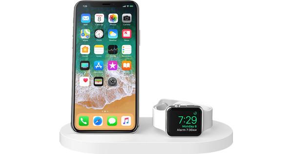 Belkin Boost Up Chargeur sans fil avec port USB-A iPhone/Apple Watch Blanc