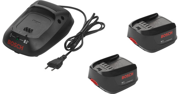 Bosch 18V 1.3-Ah Li-Ion Battery (2x) + Battery Charger