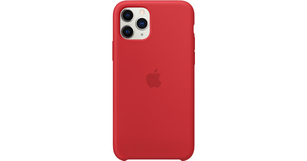 Apple iPhone 11 Pro Silicone Back Cover Rood