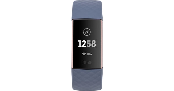 Fitbit Charge 3 Blue Gray / Rose Gold Aluminum