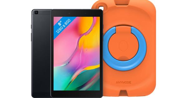 Samsung Galaxy Tab A 8.0 (2019) 32 GB Wifi Zwart + Samsung Kinderhoes Oranje