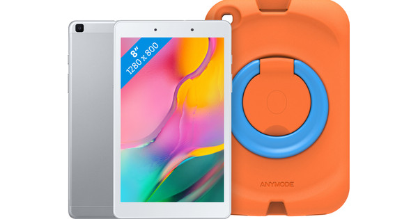Samsung Galaxy Tab A 8.0 (2019) 32 GB Wifi Zilver + Samsung Kinderhoes Oranje