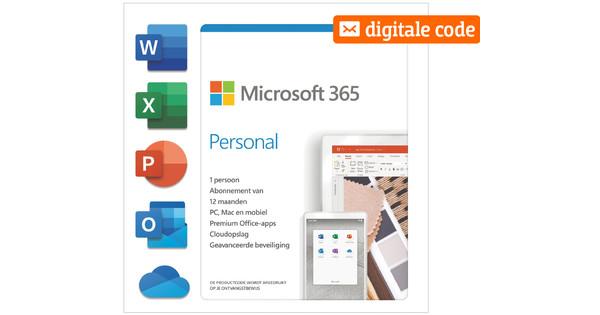 Microsoft 365 Personal Meertalig 1 jaar - Digitale code