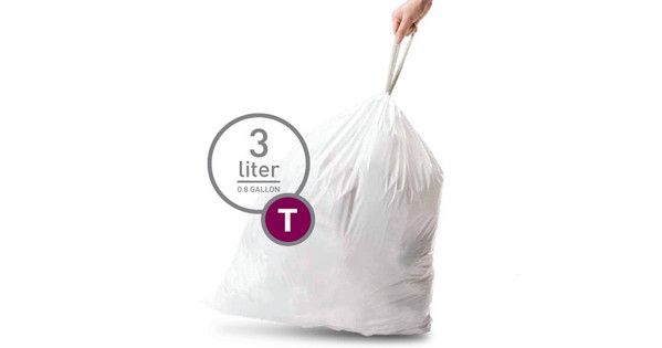Simplehuman Afvalzak Code T - 3 Liter (40 stuks)