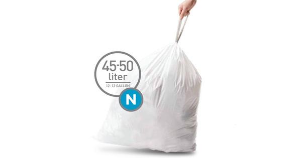Simplehuman Sac poubelle Code N - 45 litres (20 pièces)