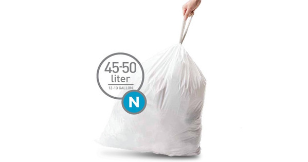 Simplehuman Afvalzak Code N - 45 Liter (20 stuks)