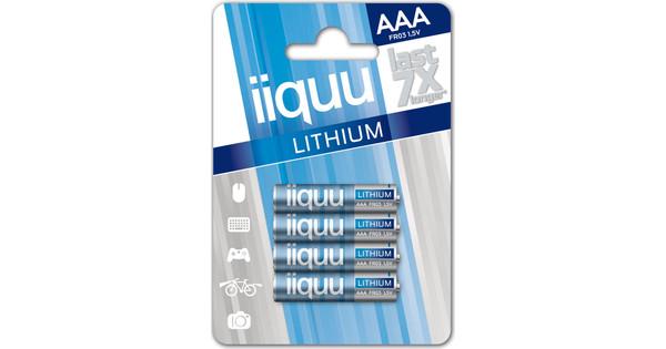 iiquu lithium AAA 4-pack