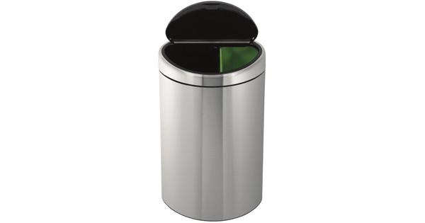 Brabantia Touch Bin Rvs.Brabantia Touch Bin Recycle 10 23 Liter Rvs Mat Coolblue Voor