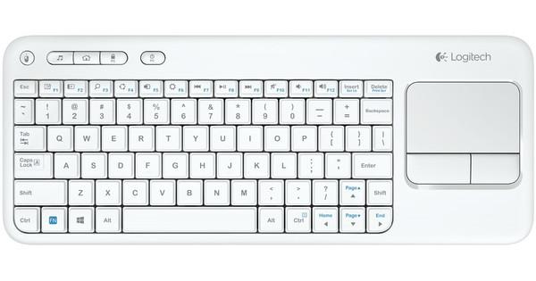 logitech k400 draadloos touch toetsenbord wit