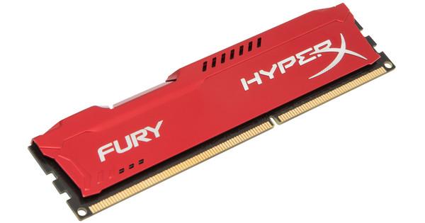 Kingston HyperX Fury 4GB DDR3 DIMM 1600 Rood (1x4GB)