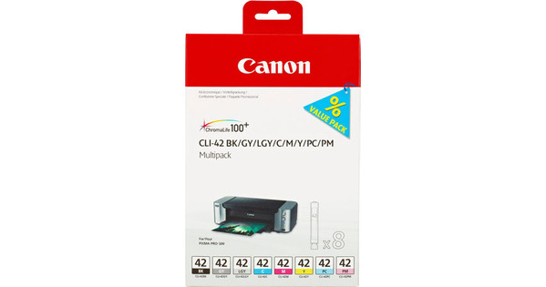 Canon CLI-42 Value Pack 8-Kleuren + Papier