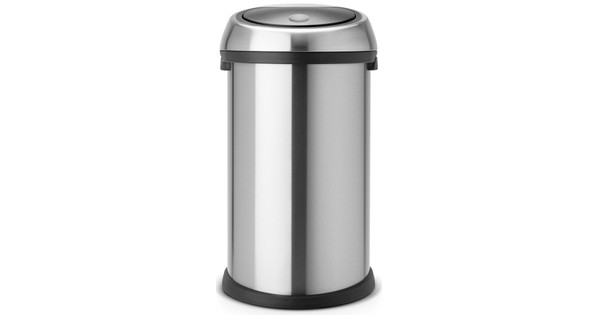 Touch Bin Sluiting.Brabantia Touch Bin 50 Liter Matt Steel Fingerprint Proof Coolblue