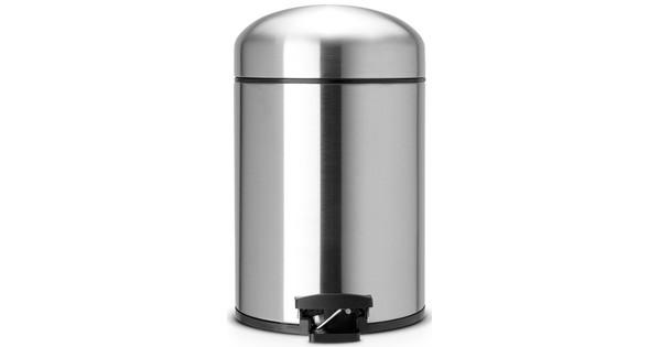 Brabantia Pedaalemmer Retro Bin.Brabantia Retro Bin 5 Liter Matt Steel