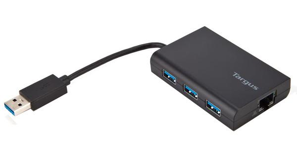 Targus Hub USB 3.0 3 ports avec Gigabit Ethernet