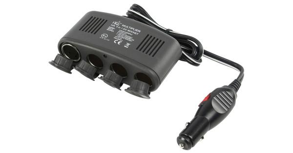 Adaptateur répartiteur de voiture HQ 4 voies 12 V + USB