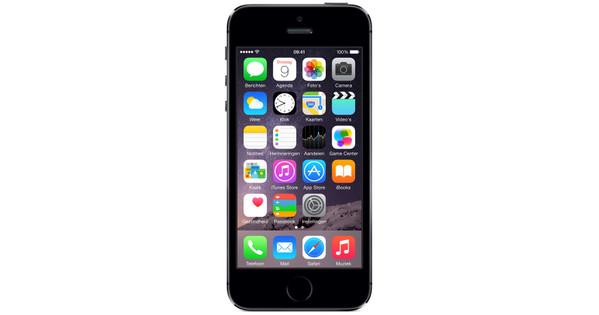 Apple iPhone 5S 32 Go Noir - Coolblue - avant 23 59, demain chez vous e1b16e1e03c3