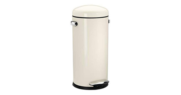 Brabantia Motioncontrol Pedaalemmer 30 L.Simplehuman Retro Stepcan 30 Liter Creme