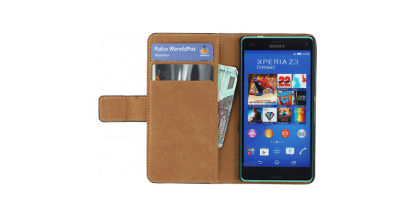 Mobilize Classic Wallet Book Case Sony Xperia Z3 Compact Zwart