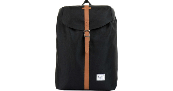 Herschel Post Mid-Volume Black/Tan Synthetic Leather