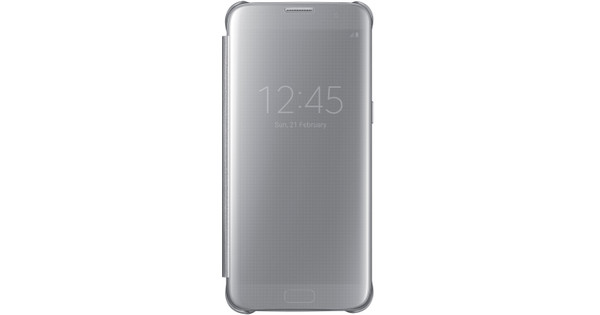 Samsung Galaxy S7 Edge Clear View Cover Zilver