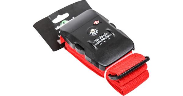Adventure Bags Kofferriem TSA Slot Rood